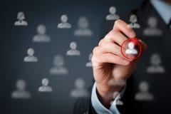 Marketing segmentatie en leider royalty-vrije stock foto