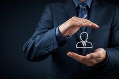Marketing segmentation and leader. Marketing segmentation and targeting, personalization, individual customer care (service), customer relationship management ( stock photos