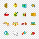 Marketing set icons, pop-art style. Marketing set icons in pop-art style with transparency for design Stock Photo