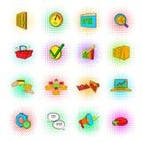 Marketing set icons, pop-art style. Marketing set icons in pop-art style  on a white background Royalty Free Stock Photo