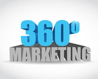 360 marketing sign illustration design Stock Image