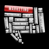 Marketing social media speech bubble Stock Photos