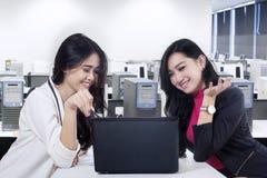 Marketing staff discussing job 1 Stock Image