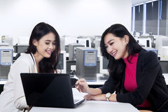 Marketing staff discussing job 2 Stock Image