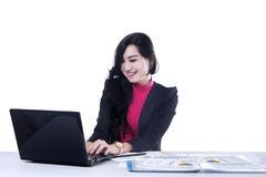 Marketing staff working in office 2 Stock Images