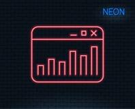 Marketing statistics line icon. Web analytics symbol. Stock Photography