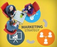 Marketing Strategie die Commercieel Reclameplan Concep brandmerken royalty-vrije stock afbeelding