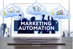 Marketing Strategie Het concept van de planningsstrategie Zaken, technol stock fotografie