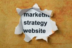 Marketing strategiewebsite Royalty-vrije Stock Foto