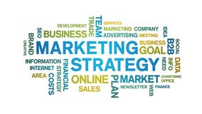 Marketing Strategy Animated Tag Word Cloud,Text Design Animation seamless loop.