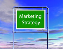 Marketing strategy billboard Stock Photo