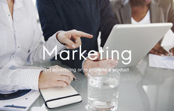Marketing Strategy Branding Advertising Commercial Plan Concept.  stock photo