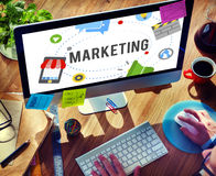 Marketing Strategy Branding Commercial Advertisement Concept royalty free stock images