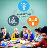 Marketing Strategy Branding Commercial Advertisement Plan Concept stock photography