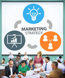 Marketing Strategy Branding Commercial Advertisement Plan Concep. T royalty free stock photo
