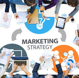 Marketing Strategy Branding Commercial Advertisement Plan Concep. T Royalty Free Stock Images