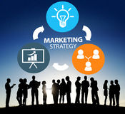 Marketing Strategy Branding Commercial Advertisement Plan Concept stock image