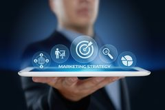 Marketing Strategy Business Advertising Plan Promotion concept.  royalty free stock image
