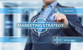 Marketing Strategy Business Advertising Plan Promotion concept.  royalty free stock photography
