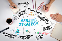 Marketing Strategy Business concept. The meeting at the white of Royalty Free Stock Photography