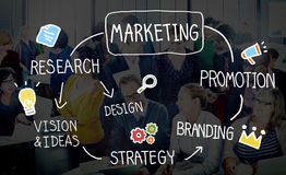 Marketing Strategy Business Information Vision Target Concept Stock Image