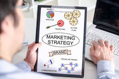 Marketing strategy concept on a clipboard Royalty Free Stock Image