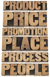 Marketing strategy concept - 6P Royalty Free Stock Photos