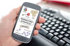 Marketing strategy concept on a smartphone Royalty Free Stock Photography