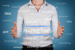 Marketing Strategy Concept on Visual Screen Royalty Free Stock Photo