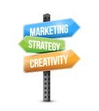 Marketing, strategy, creativity sign illustration Stock Images