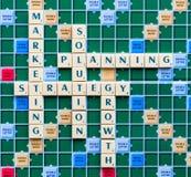 Marketing strategy crosswords Royalty Free Stock Photo