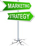 Marketing-strategy direction sign. Stock Image
