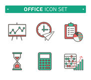 Marketing Strategy Icons. Simple glyph style icons Royalty Free Stock Images