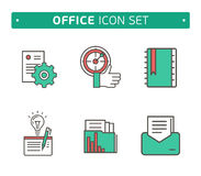 Marketing Strategy Icons. Simple glyph style icons Royalty Free Stock Image