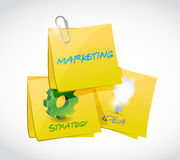 Marketing, strategy, ideas post illustration Royalty Free Stock Photos