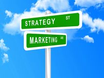 Marketing strategy intersected Royalty Free Stock Photography