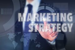 Marketing strategy. Concept on touch screen Royalty Free Stock Photos