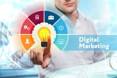 Marketing Strategy. Planning Strategy Concept. Business technolo Stock Photo
