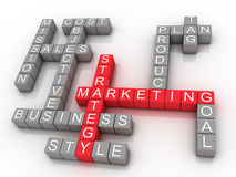 Marketing strategy related words Royalty Free Stock Photography
