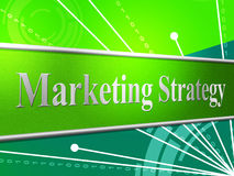 Marketing Strategy Represents Tactics Strategic And Advertising Royalty Free Stock Photos