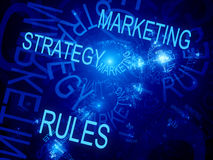 Marketing strategy rules. Computer generated fractal background Royalty Free Stock Photos