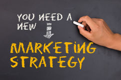 Marketing strategy. You need a new marketing strategy stock photos