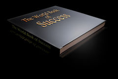 Marketing Success. A How to Success book on a table with reflections Stock Photography