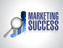 Marketing success graph investigation Royalty Free Stock Photo