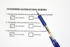 Marketing Survey Questionnaire Royalty Free Stock Images