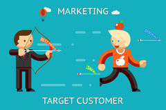 Marketing target customer Royalty Free Stock Photo