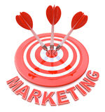 Marketing Target. In the design of information related to the achievement of objectives Royalty Free Stock Photos