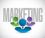 Marketing team sign illustration design Stock Images