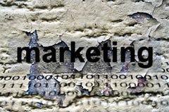 Marketing text on grunge background Stock Images