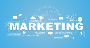 marketing text and infographic illustration Royalty Free Stock Image